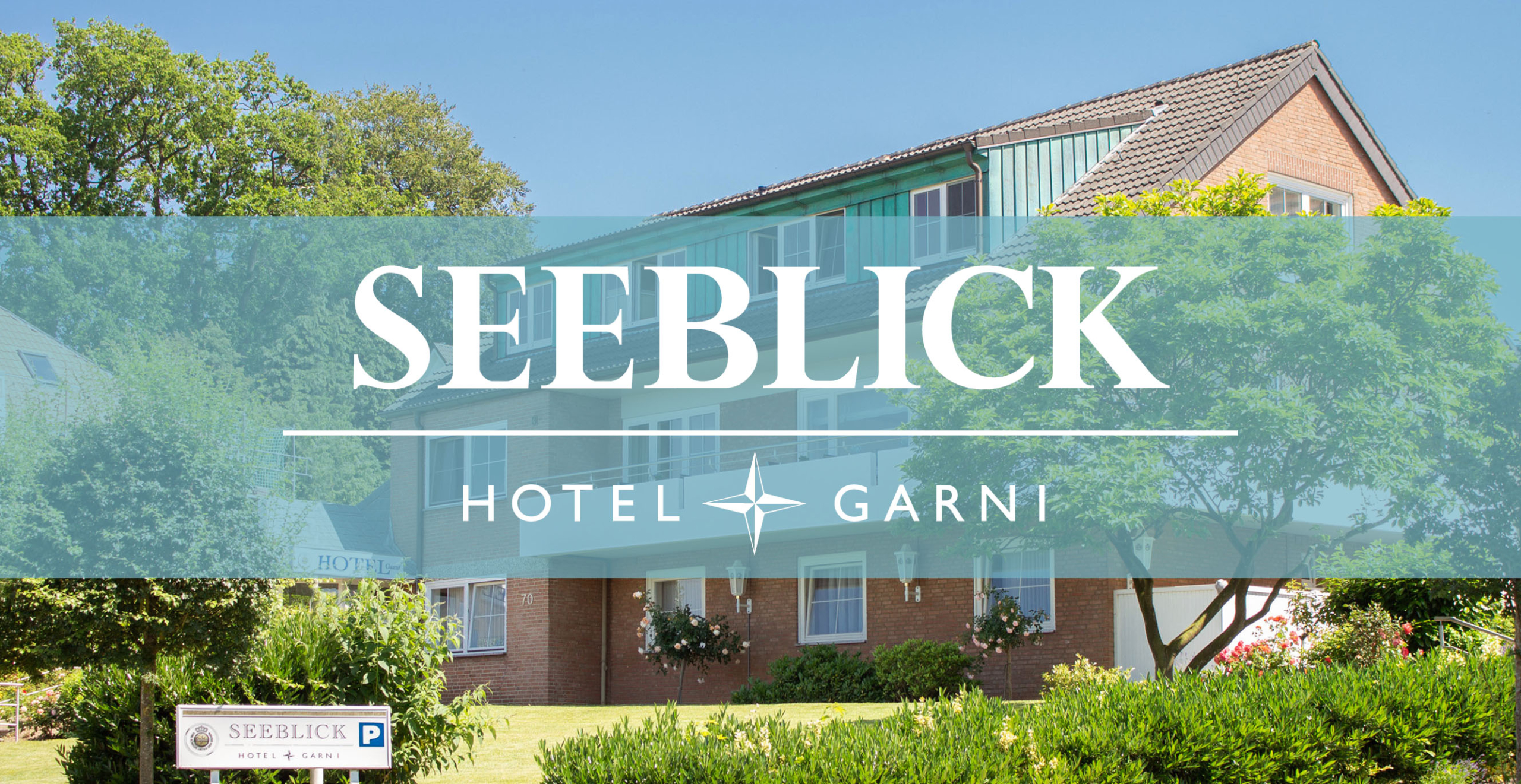 Logo Außenbereich Aussenbereich Haus Hotel Garni Seeblick Plön Ploen