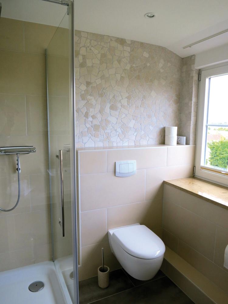 Zimmer Bad Dusche WC Hotel Garni Seeblick Plön Ploen